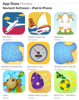 Preview of Navtech Software iOS app icons on App Store